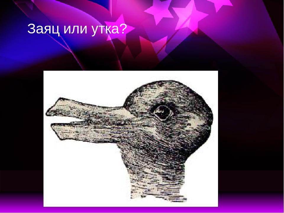 безмерно картинка на особенности восприятия заяц утка счастье тебя