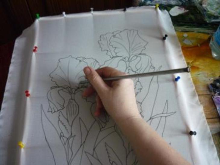рисунки карандашом на ткани фото объекта, отзывы реальных