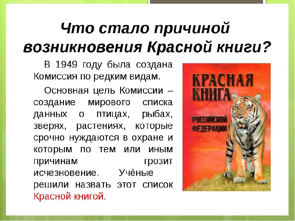 Презентация о красной книге в картинках