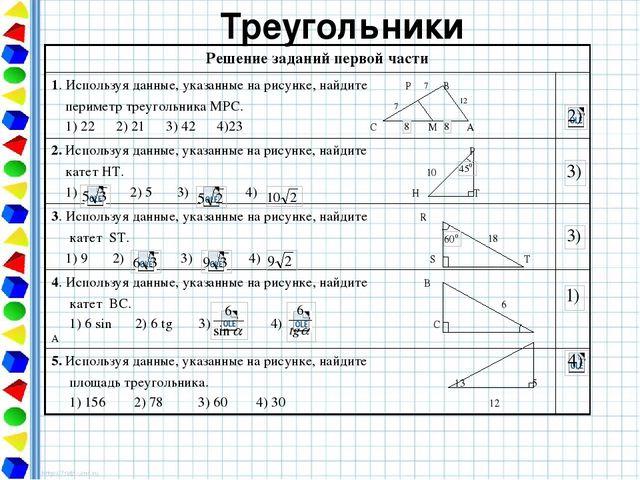 Использую данные указанные на рисунке найдите периметр треугольника