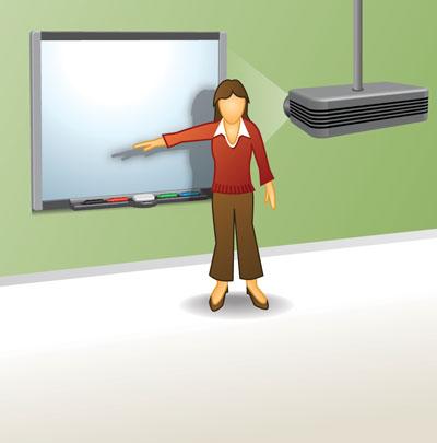 Учитель у интерактивной доски в картинках