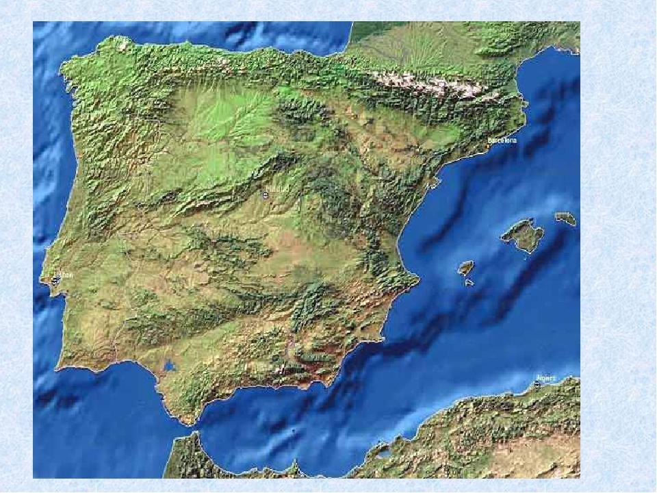 Полуостров испании и португалии