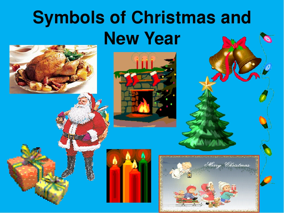Symbols of Christmas and New Year