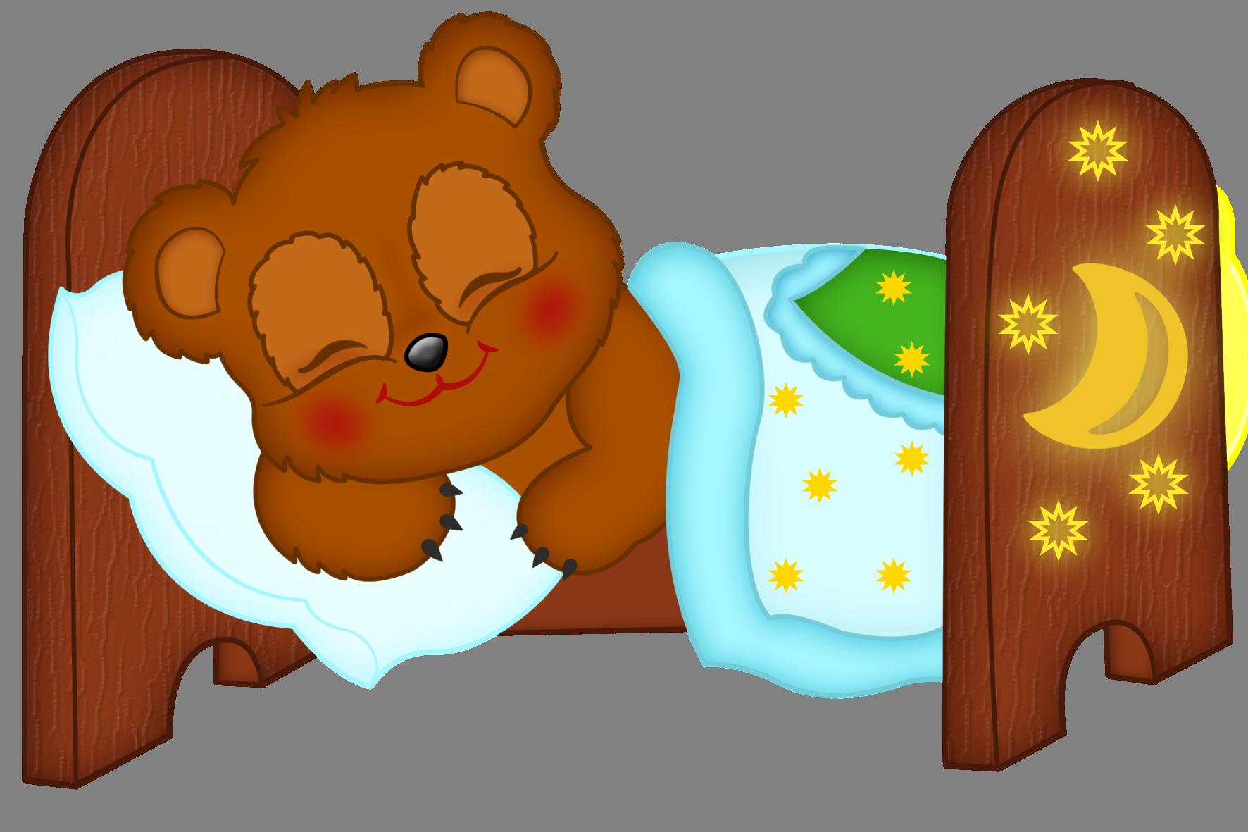 Спящий мишка картинка