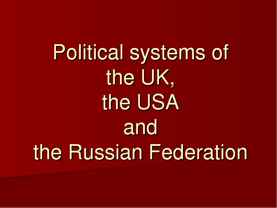 political system of gb