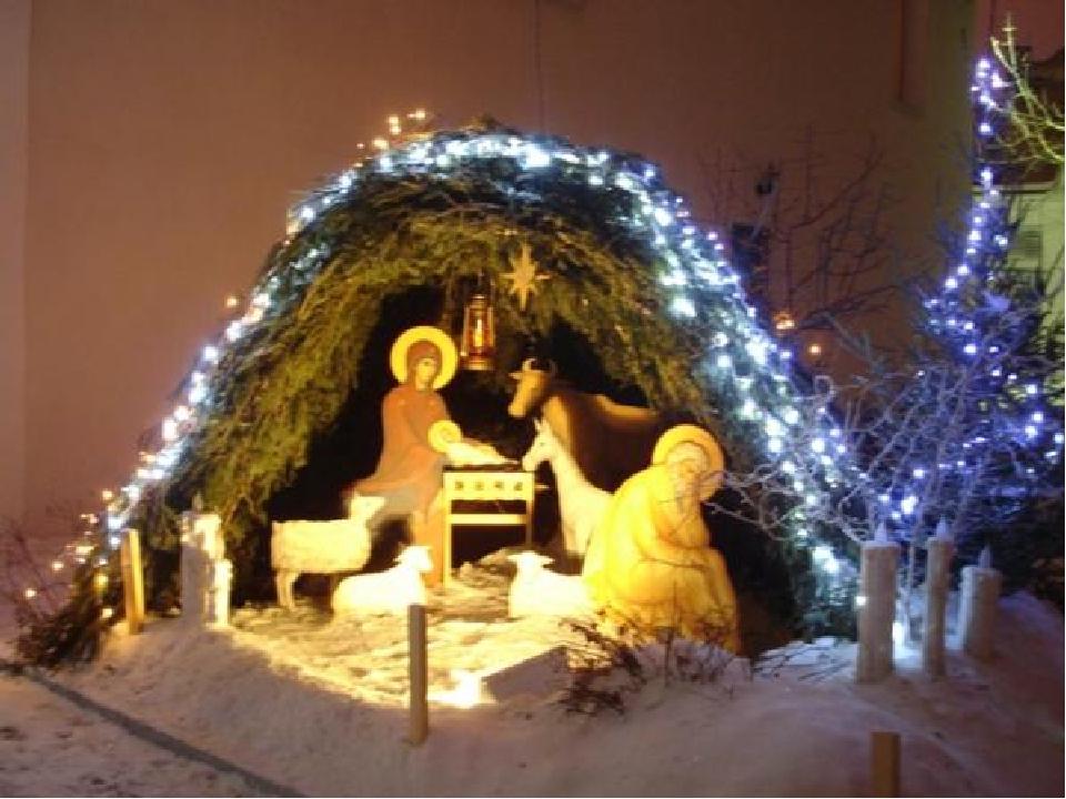 Вертеп рождественский своими руками на улице 52