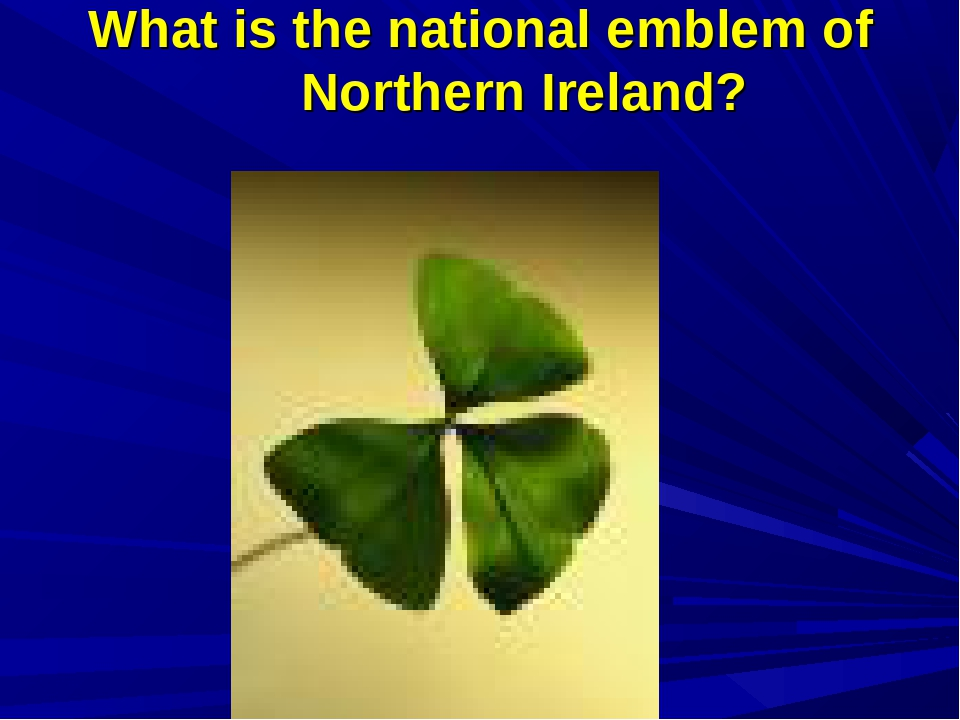 What is the national emblem of Northern Ireland?
