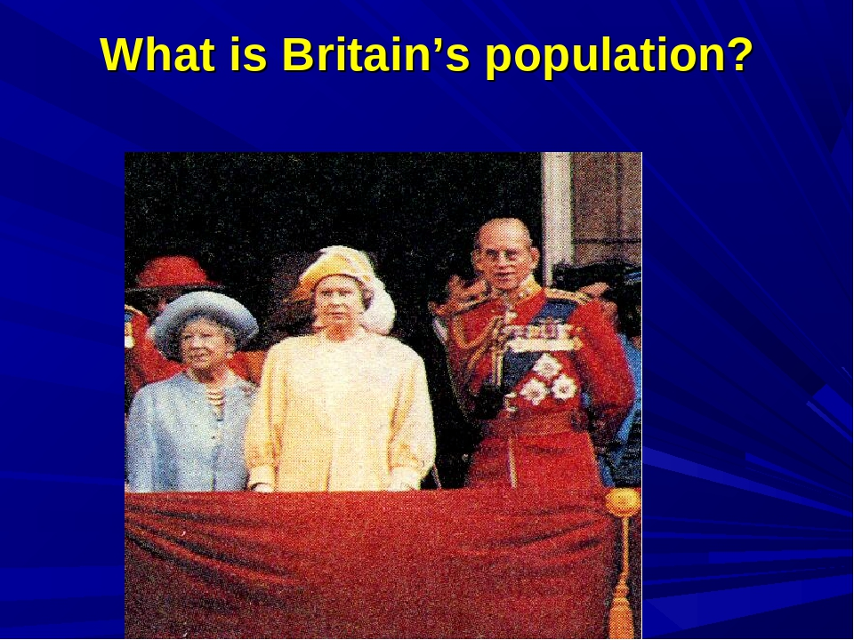 What is Britain's population?