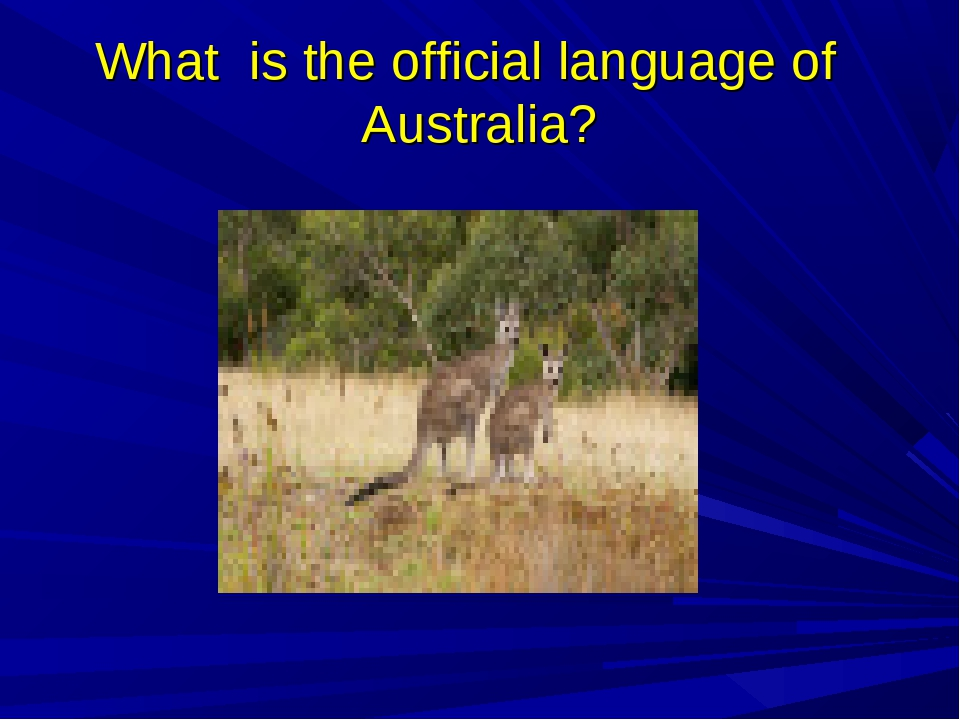 What is the official language of Australia?
