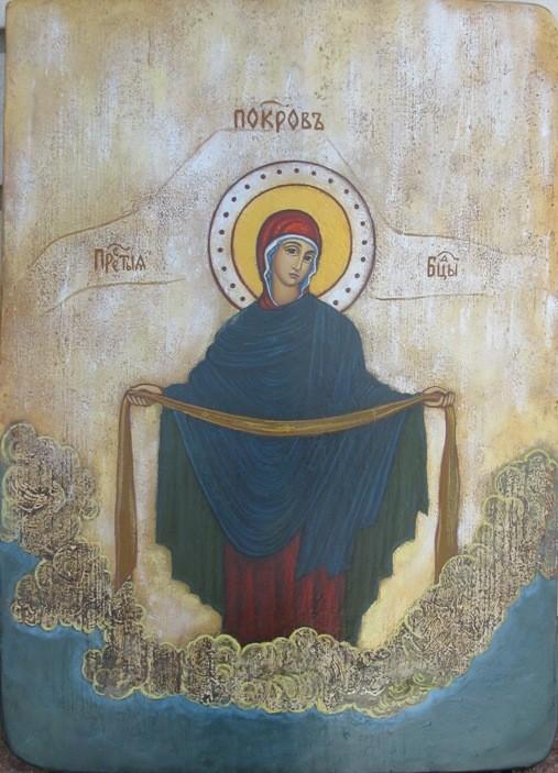 Фото старинных икон покрова богородицы