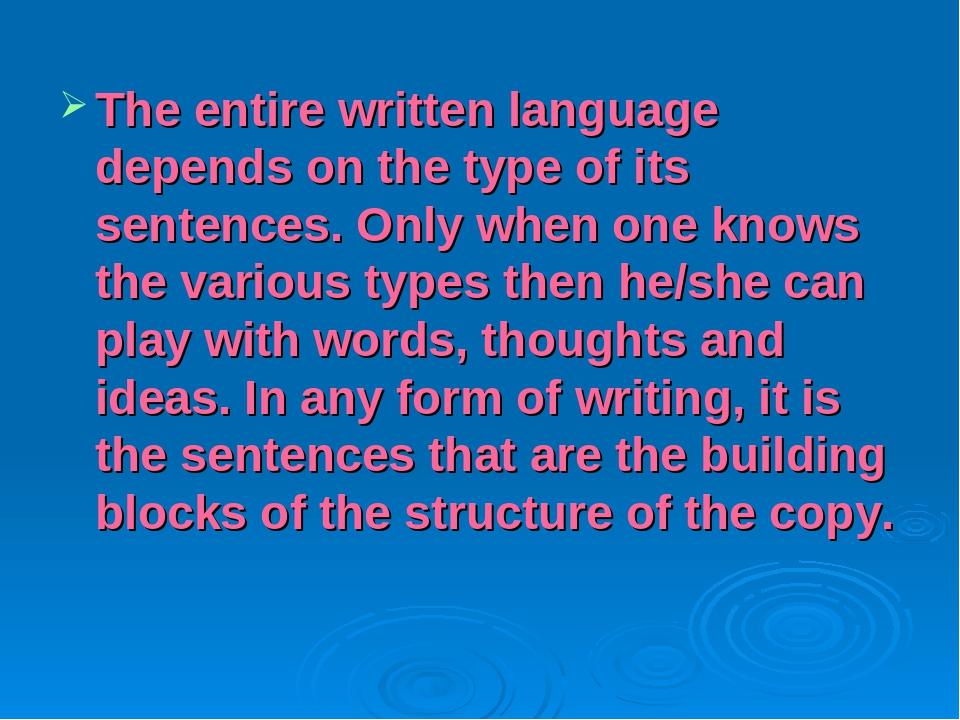 types of language in writing