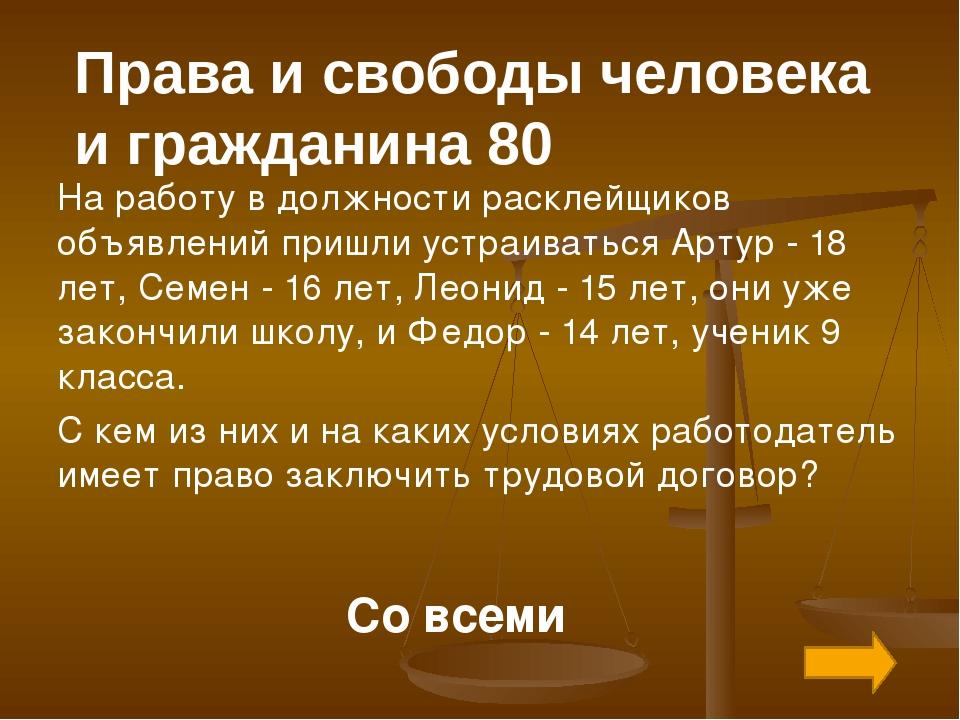 Обязанности гражданина РФ 30 В каком соотношении находятся права человека и е...