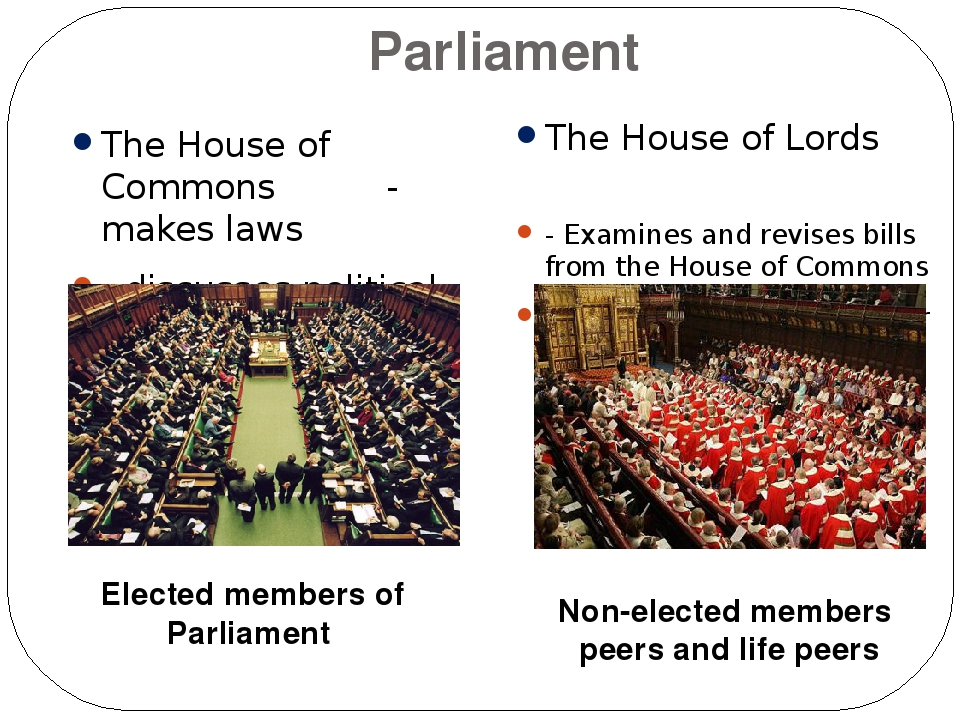 comparison of the british parliament and the The library of congress parliament and congress: a brief comparison of the house of commons and the house of representatives summary although the united states congress can trace its origins to british parliament, the two institutions have evolved in significantly different directions over the past two centuries.