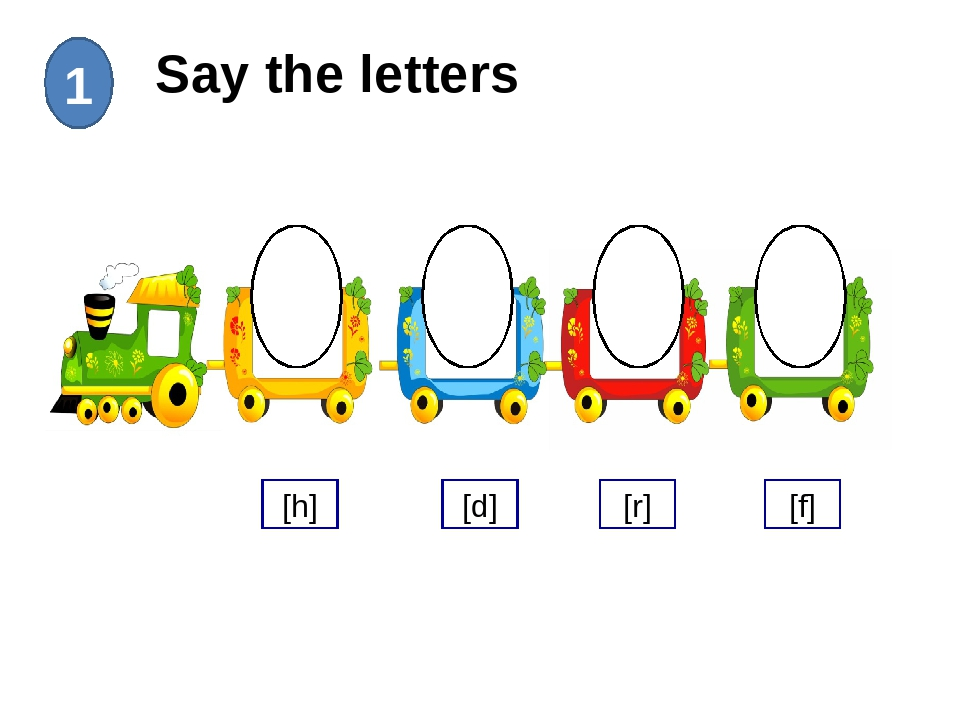 Say the letters 1 Hh Rr Ff Dd [h] [d] [r] [f]