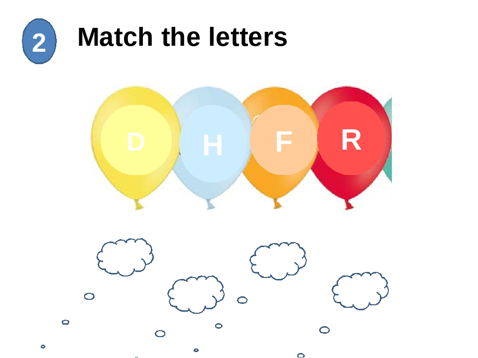 Match the letters 2 лr лf лh лd D H F R