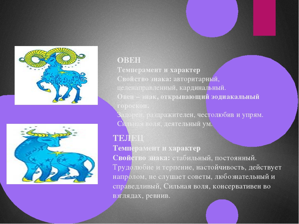 ОВЕН Темперамент и характер Свойство знака: авторитарный, целенаправленный, к...