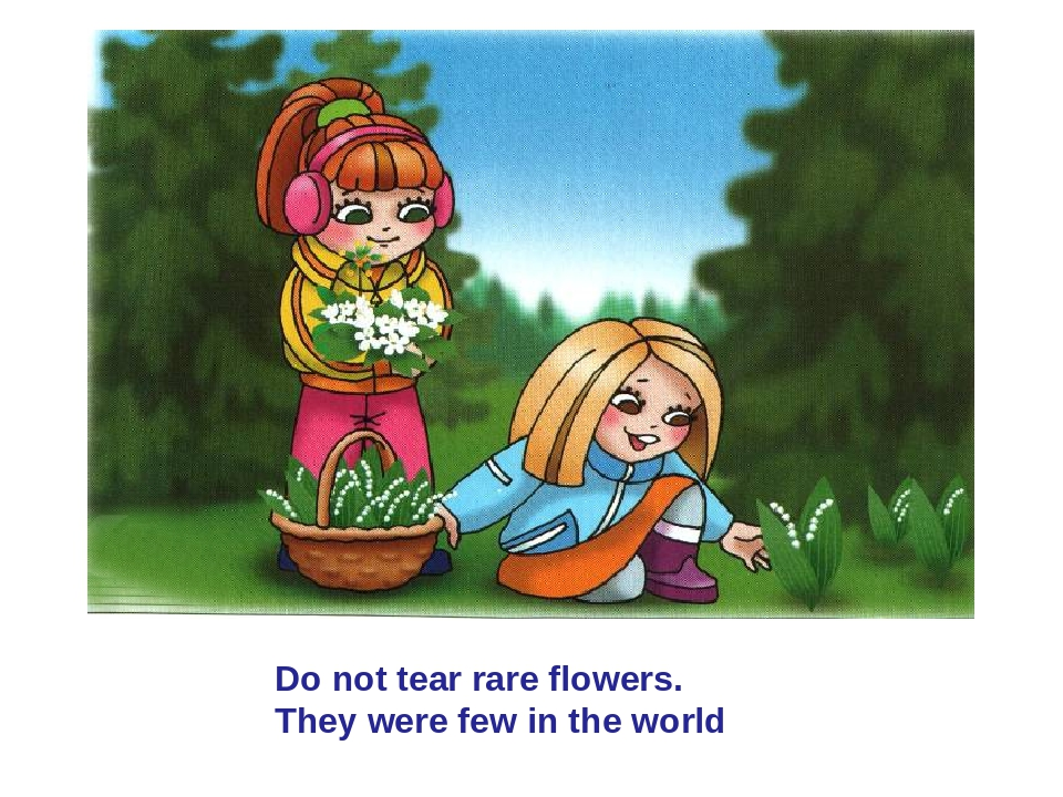 Do not tear rare flowers. They were few in the world