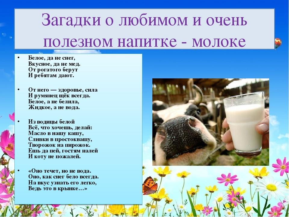 Стихи про молоко для детей 3-4 лет