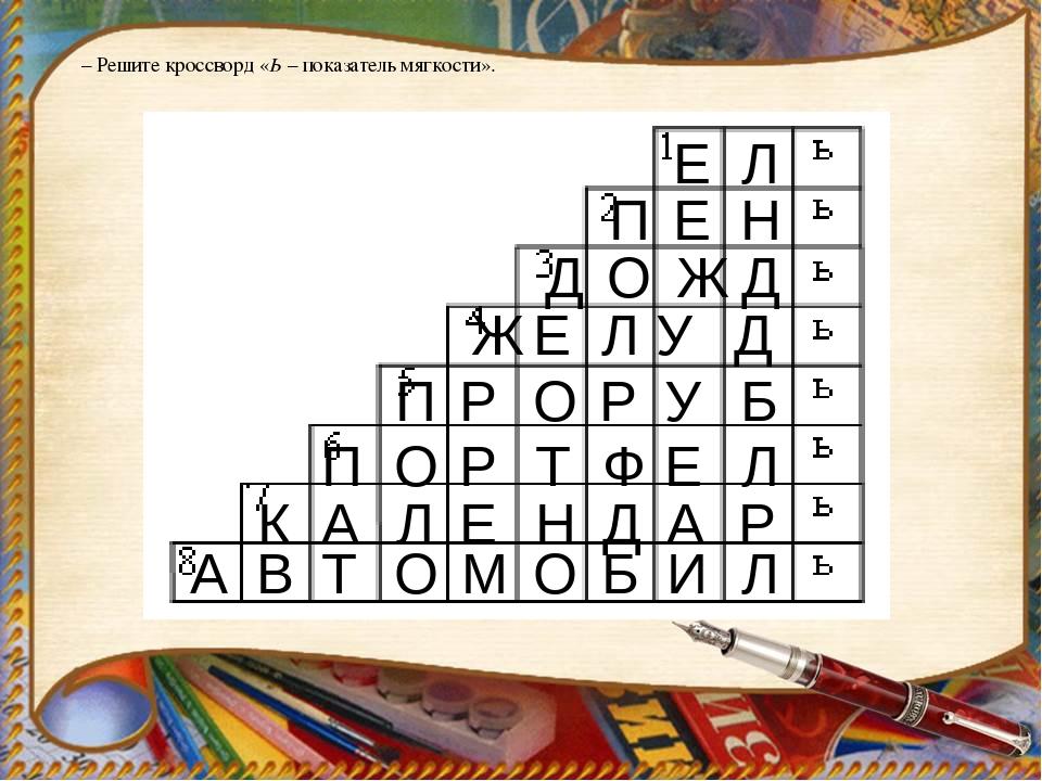 Кроссворд С Ь И Ъ Знаком