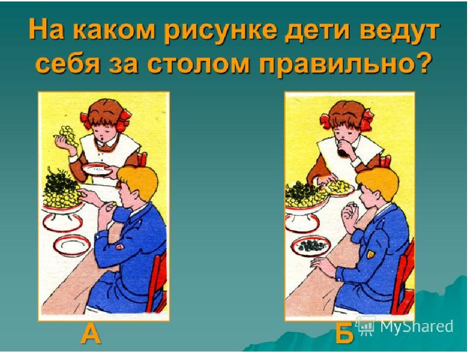 обязан картинки правил этикета за столом этому