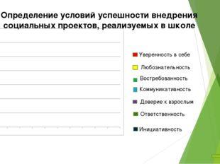 Определение условий успешности внедрения социальных проектов, реализуемых в ш