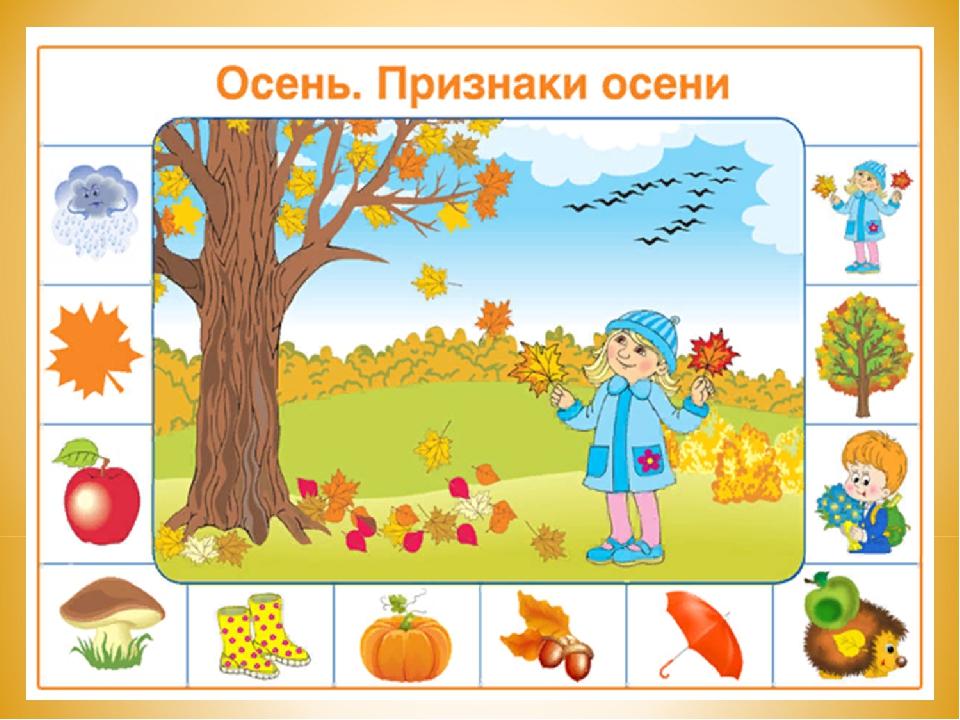 Алгоритм осень в картинках для детского сада