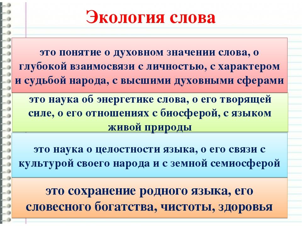Доклад вопросы экологии русского языка 6241
