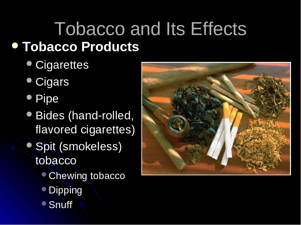 tobacco and its effect on health