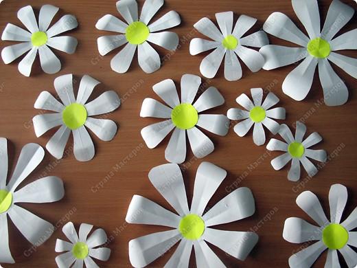 Цветы из бумаги для оформления зала шаблоны 92