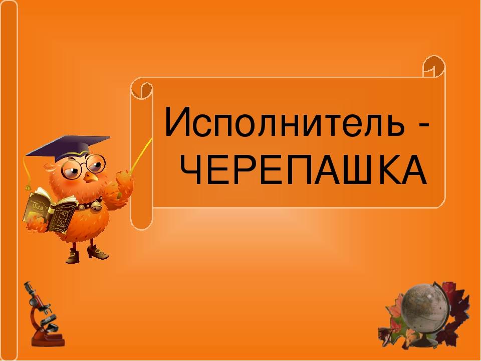 Исполнитель - ЧЕРЕПАШКА