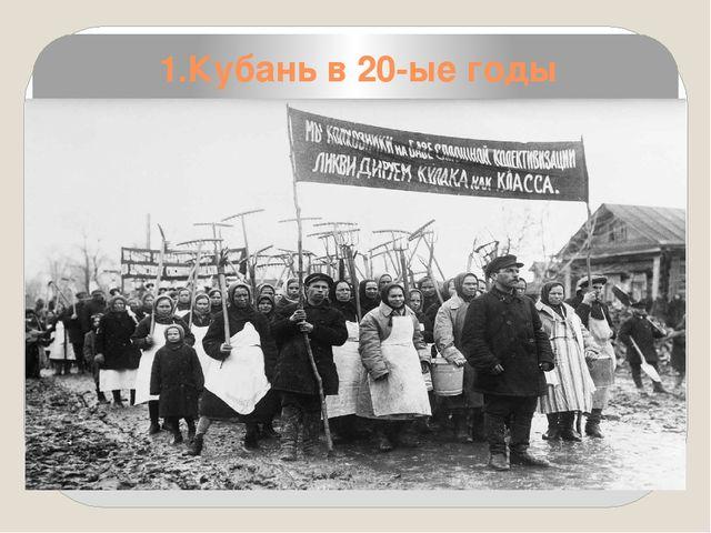 Репрессии 30-х годов на кубани