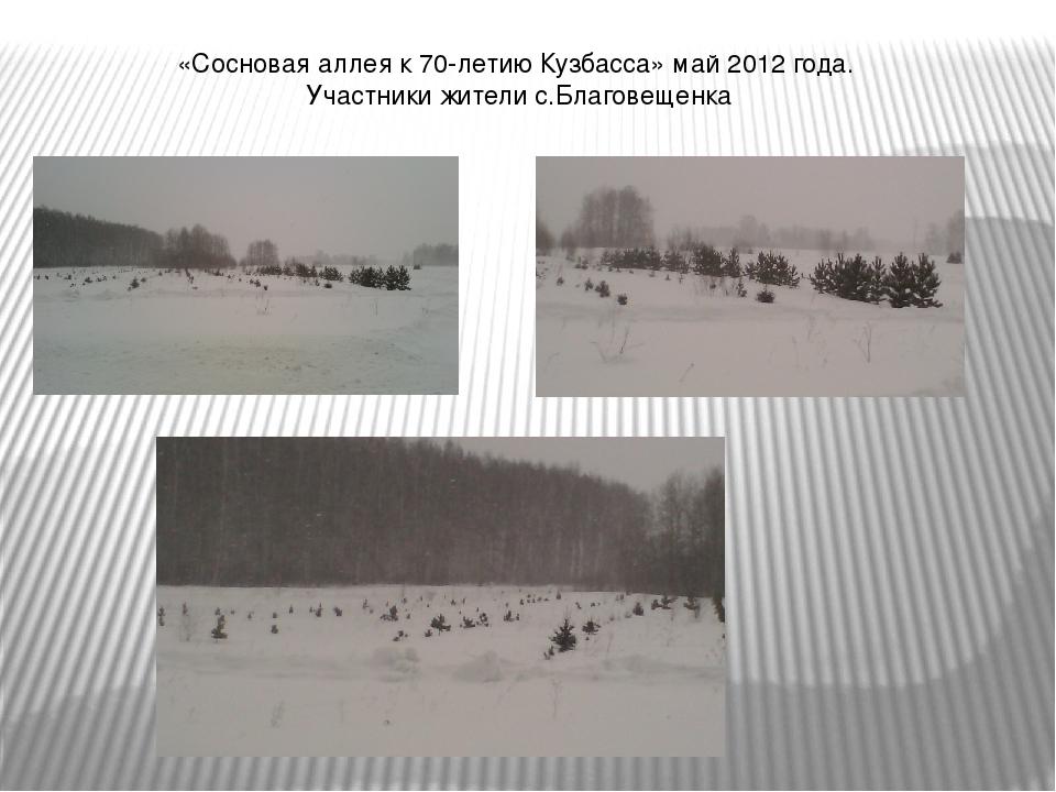 «Сосновая аллея к 70-летию Кузбасса» май 2012 года. Участники жители с.Благов...
