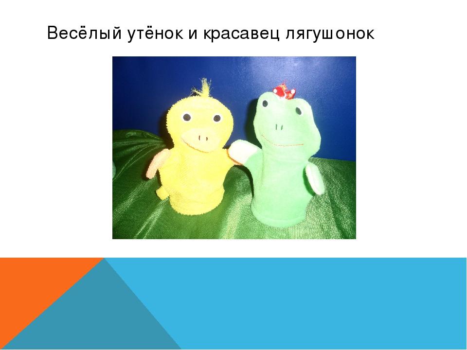 Весёлый утёнок и красавец лягушонок
