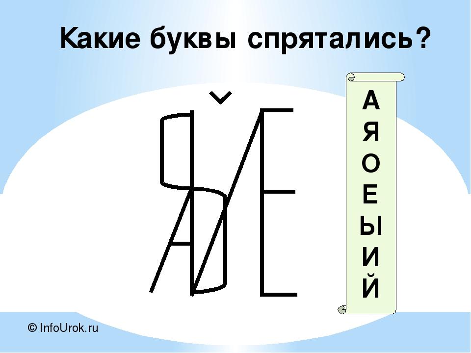© InfoUrok.ru А Я О Е Ы И Й Какие буквы спрятались?