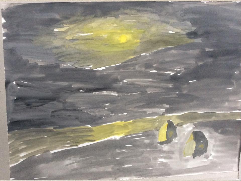 4 класс. Лунная ночь на Днепре. А. Куинджи
