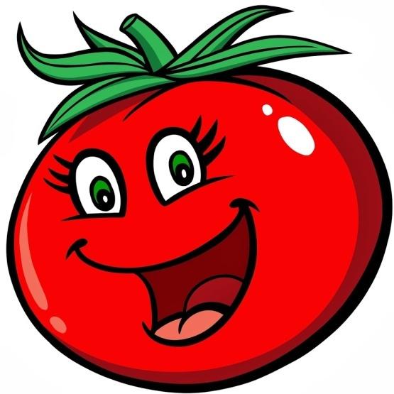 Картинки веселая помидорка