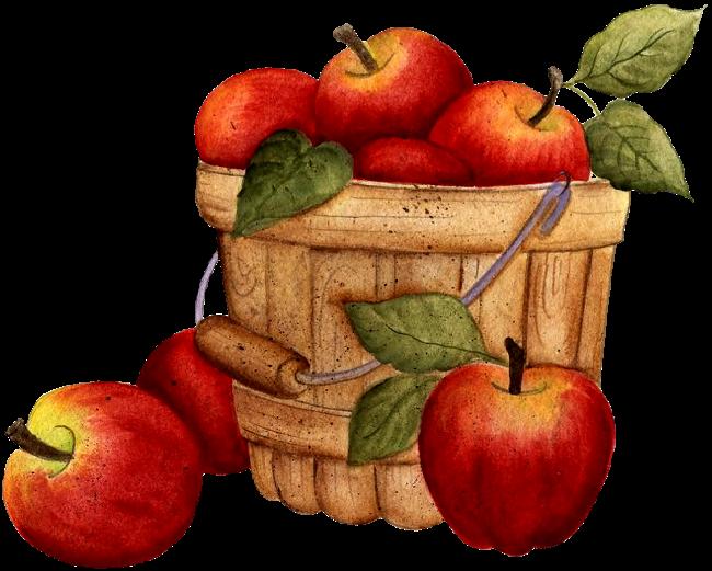 Яблочная тема в рисунках