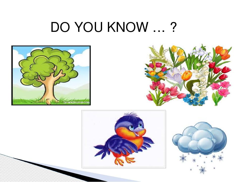 DO YOU KNOW … ?