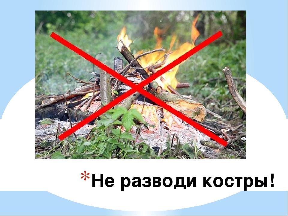 Картинки запрещающие разжигать костер