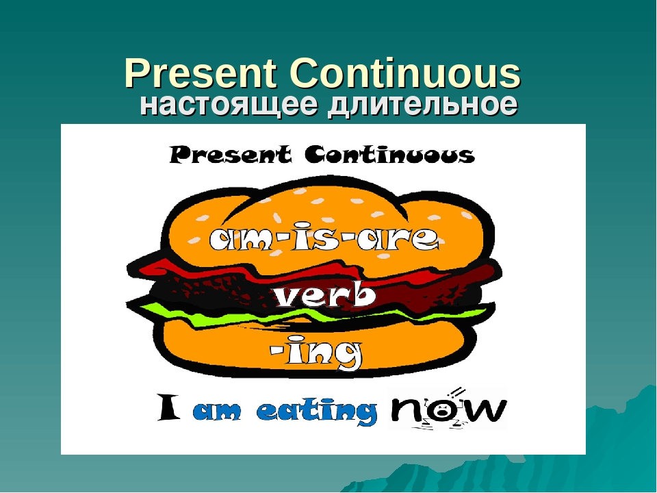 Present Continuous настоящее длительное время