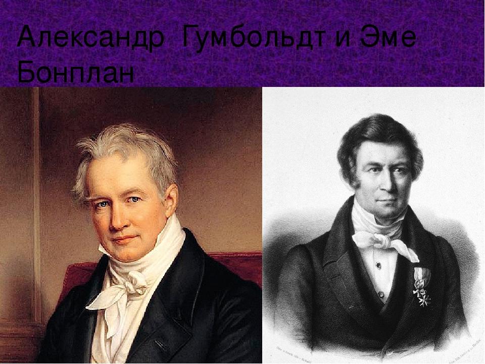 Александр Гумбольдт и Эме Бонплан
