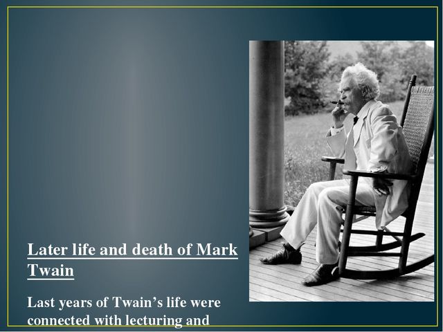 """a biography of mark twain one of the most controversial authors of all time Mark twain biography """"all modern american literature comes from one book by mark twain he purchased all rights to the machine by the time twain ended."""