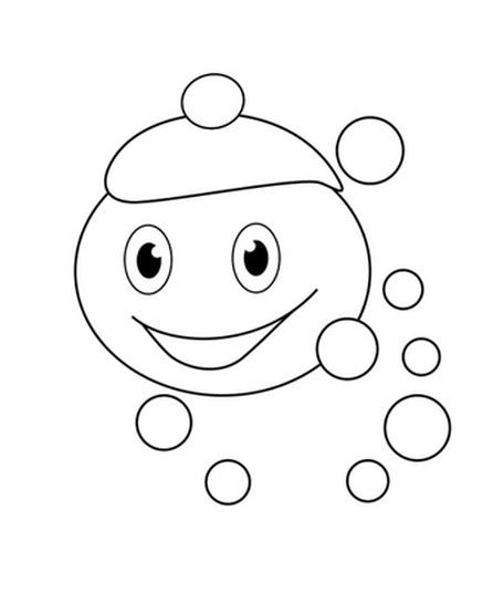 Раскраски для детей капелька