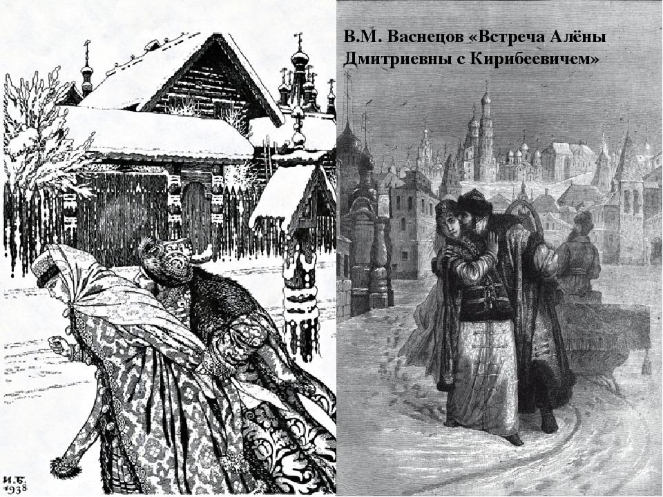 В.М. Васнецов «Встреча Алёны Дмитриевны с Кирибеевичем»
