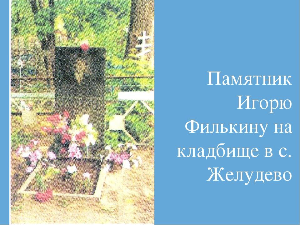Памятник Игорю Филькину на кладбище в с. Желудево
