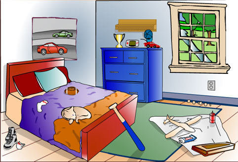 my bedroom essay kids