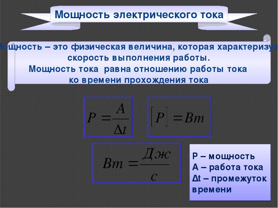 Формула тока картинки