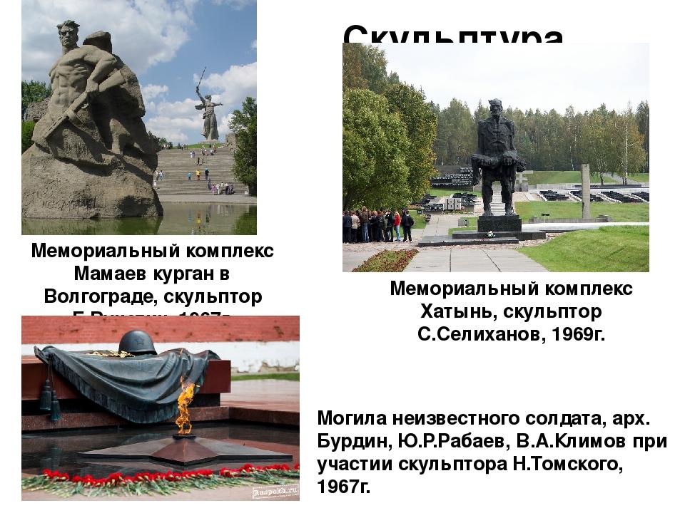 Скульптура Мемориальный комплекс Мамаев курган в Волгограде, скульптор Е.Вуче...