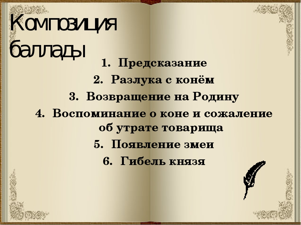 Композиция баллады Предсказание Разлука с конём Возвращение на Родину Воспоми...