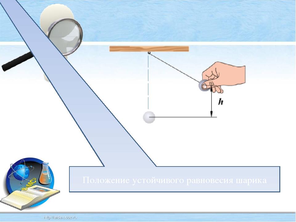 Положение устойчивого равновесия шарика